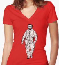 Edgar Allen Poe Dameron Women's Fitted V-Neck T-Shirt