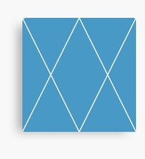 Royal Blue in Grooves Canvas Print