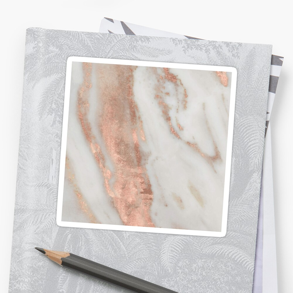 Marble - Rose Gold Shimmery Marble Sticker