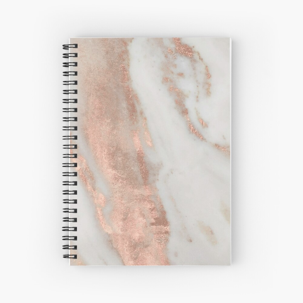 Marble - Rose Gold Shimmery Marble Spiral Notebook