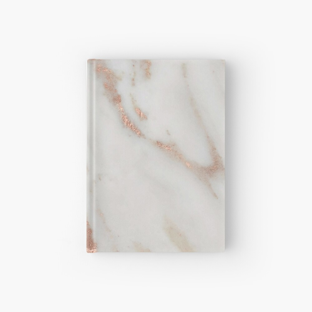 Marble - Rose Gold Shimmery Marble Hardcover Journal