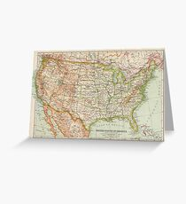 USA Antique Maps Greeting Card