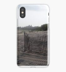 Snow Fence - East Hampton Beach iPhone Case