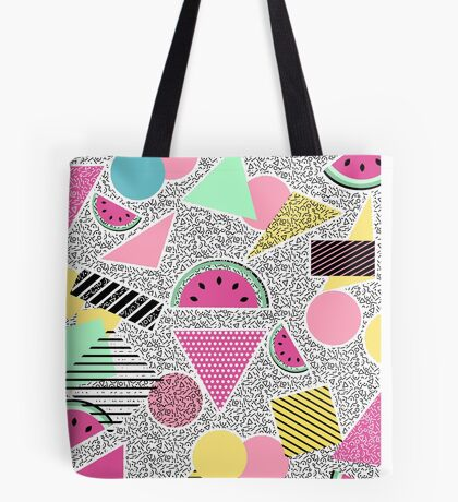 Modern geometric pattern Memphis patterns inspired Tote Bag