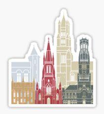 Bruges skyline poster Sticker