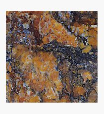 Burnt Orange Rust Marble Pattern Photographic Print