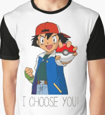 I Choose You! Ash Ketchum Valentines Pokemon Sun Moon Go Graphic T-Shirt