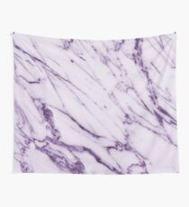 Violet Marble Design Wall Tapestry