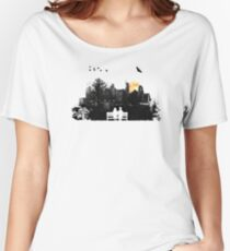City Moonrise Women's Relaxed Fit T-Shirt