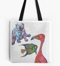 Vibrant Animals Tote Bag