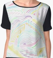 Abstract Colourful Twin Girl Women's Chiffon Top