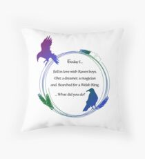 Search for the Raven King Throw Pillow