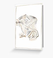 Abstract Mystery Woman Greeting Card