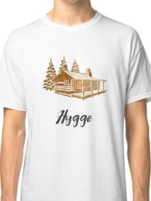 Hygge Design of a Cosy Cabin by Woodland Doodles Classic T-Shirt