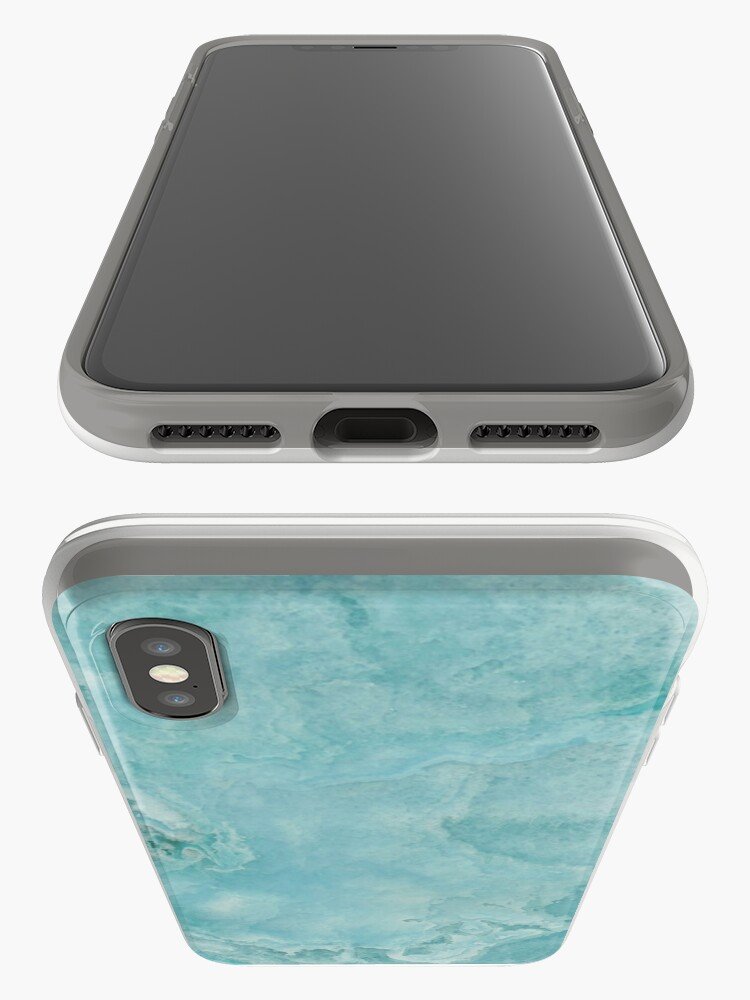 Alternate view of Turquoise Sea Marble iPhone Case & Cover