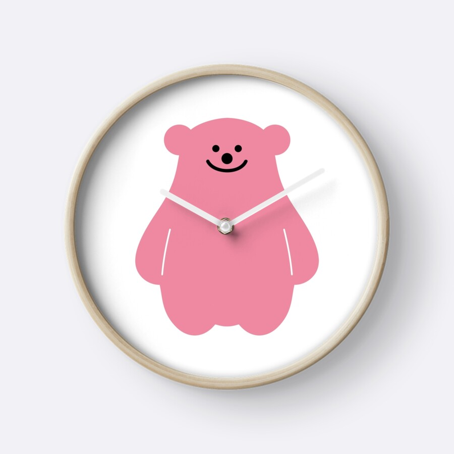 """SM Entertainment / SMTOWN 'Pink Gummy Bear'"" Clocks by ..."