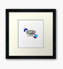 Youtuber Video Gamer Unschool Framed Print