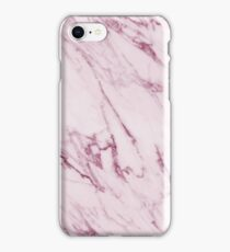 Marble Texture - Mauve Pink Marble iPhone Case/Skin