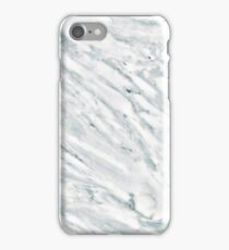 Marble Pattern - Swirly White and Blue Marble iPhone Case/Skin