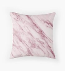 Marble Pattern - Swirled Raspberry Pink Marble Throw Pillow