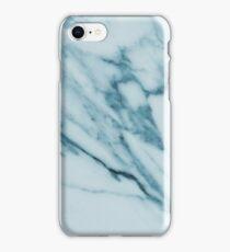 Marble Pattern - Streaked Teal Blue Marble iPhone Case/Skin
