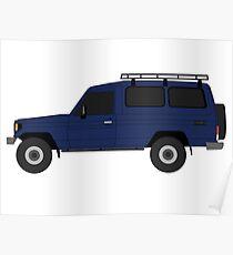TOYOTA Land Cruiser HZJ75 with Roof Rack (machito) Poster