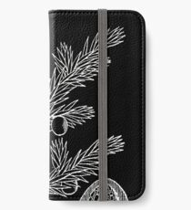 Britton And Brown Illustrated flora of the northern states and Canada 0875 Juniperus communis montana iPhone Wallet/Case/Skin
