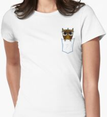 Pocket Owl Women's Fitted T-Shirt