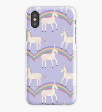 Unicorn Pattern on Pastel Purple iPhone Case