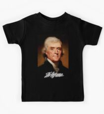 Thomas Jefferson,  American, Founding Father, principal author, Declaration of Independence Kids Tee