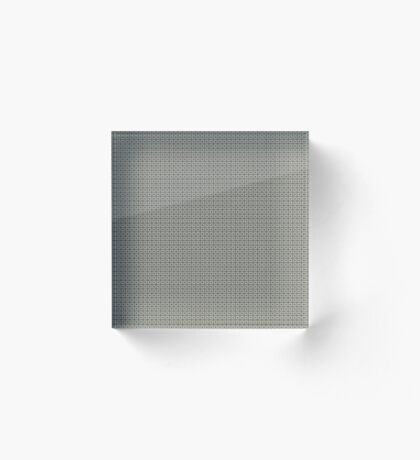 Dots  & Squares in Gray Acrylic Block