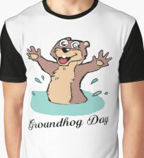 Happy Groundhog Day Canada Graphic T-Shirt