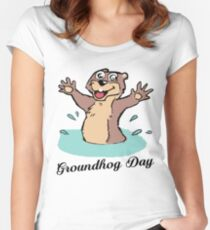 Happy Groundhog Day Canada Women's Fitted Scoop T-Shirt