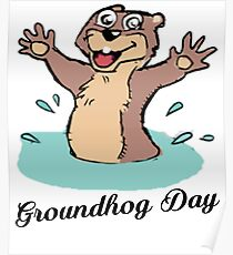 Happy Groundhog Day Canada Poster