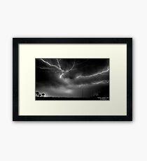 Cracks in the Sky Framed Print
