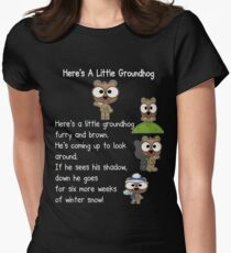 Happy Groundhog Day In Canada Womens Fitted T-Shirt