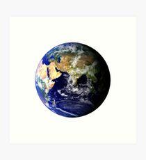 Earth Globe Art Print