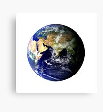 Earth Globe Canvas Print