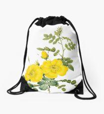 Yellow rose Drawstring Bag