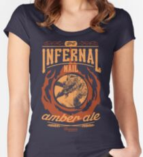 Infernal Nail Amber Ale   FFXIV Women's Fitted Scoop T-Shirt