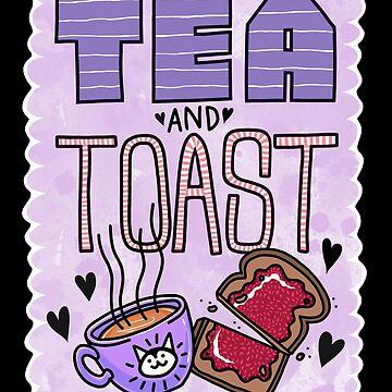 Tea and Toast - Purple Version by blacklilypie