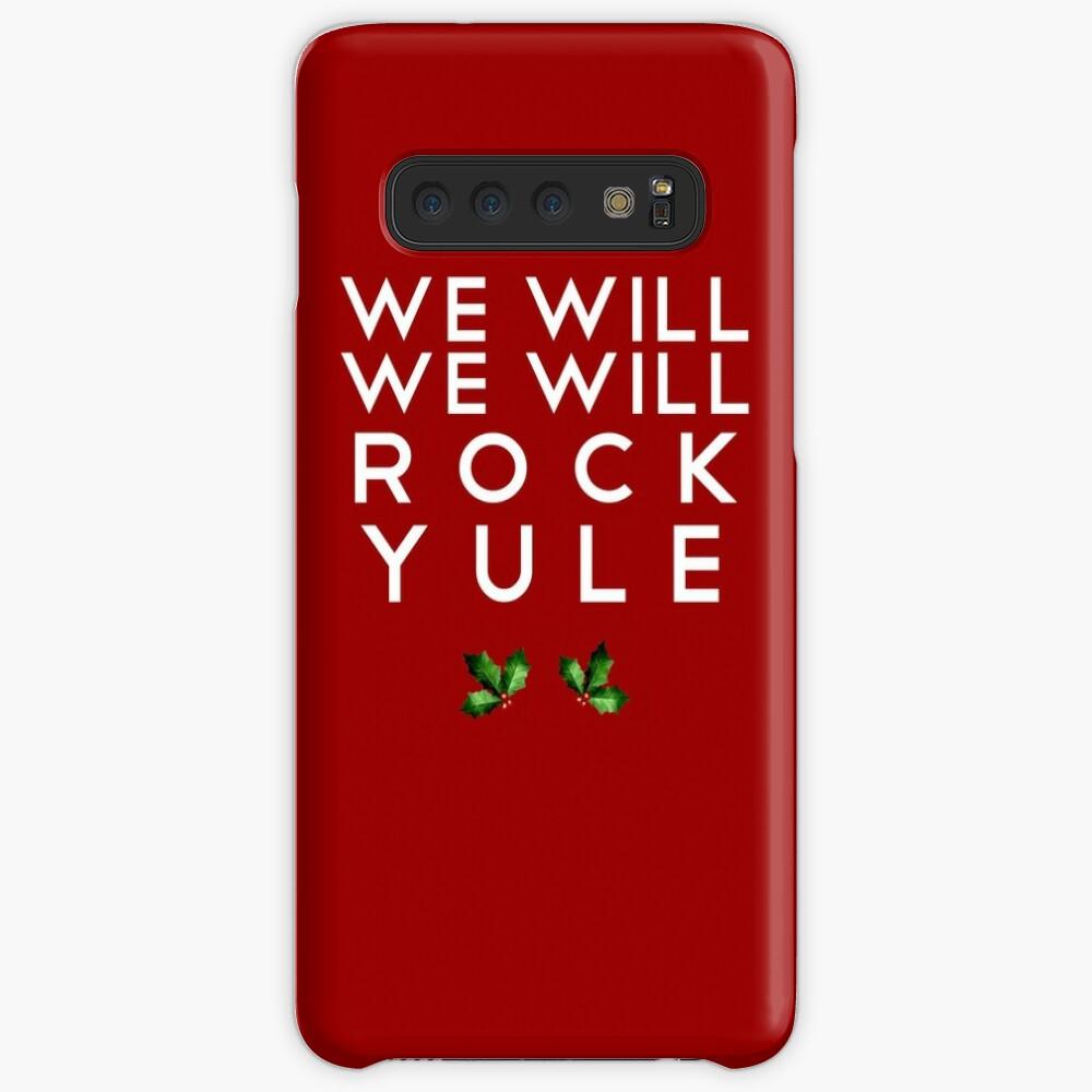 WE WILL ROCK YULE Hülle & Klebefolie für Samsung Galaxy