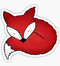 Sleepy Little Fox Sticker