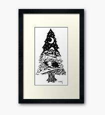 Night Pine Framed Print