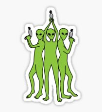 Charlies Aliens  Sticker