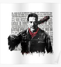 The Walking Dead - Negan quotes Poster