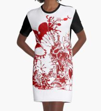 This is a red dream T-Shirt Kleid