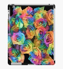 ROSES, ROSE, Rainbow, Bunch, Flowers, Colour, Colourful iPad Case/Skin