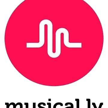 musical.ly Logo T-Shirt by musicbandcanada