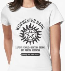SUPERNATURAL - WINCHESTER BROTHERS Women's Fitted T-Shirt